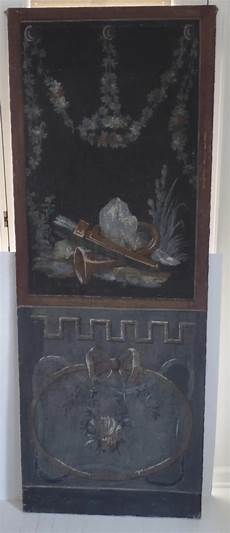 pair of painted fresco panels architectural