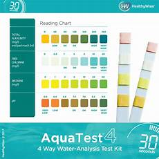 Swimming Pool Test Chart Aquatest 4 Way Pool Amp Spa Test Strips Healthywiser
