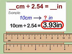 Meters To Inches Chart How To Convert Centimeters To Inches 3 Steps With Pictures