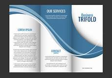Template For Brochure Free Template Design Of Blue Wave Trifold Brochure Download