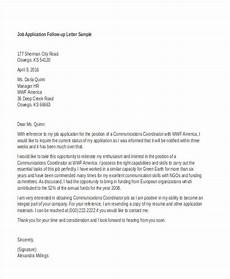 Follow Up To Job Application Job Application Follow Up 19 Email Amp Letter Templates