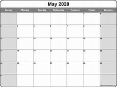 Monthly 2020 Calendar Printable May 2020 Calendar Free Printable Monthly Calendars