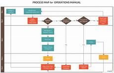 It Help Desk Process Flow Chart Process Map For Operations Manual Process Map Flow