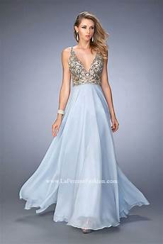 La Femme Light Blue Dress La Femme 22725 Prom Dress Prom Gown 22725
