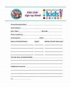Club Sign Up Sheet Template Word Sign Up Sheet 19 Free Pdf Word Documents Download