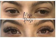 before and after a classic lash extension lashes makeup