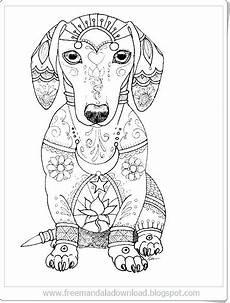 Malvorlage Hund Mandala Hund Mandala Bedruckbar Free Mandala