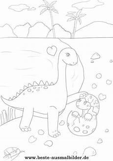Lustige Dino Ausmalbilder Ausmalbild Dinosaurier Mutter Und Dinosaurier