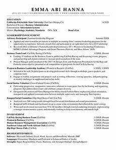 What To Write In Resume Career Readiness Orfalea Student Services