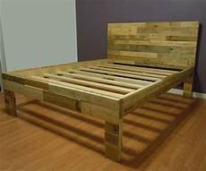 How To Make A Pallet Bed Frame With Lights Diy Pallet Bed Frame 101 Pallets Diy Pallet Bed