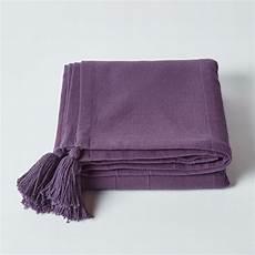 cotton rajput ribbed purple throw 150 x 200 cm