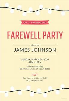 Farewell Invitation Samples Farewell Party Invitation Template 29 Free Psd Format