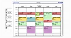 My College Schedule Instagram