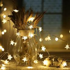A String Of 15 Christmas Tree Lights Yiyang 10m 100 Leds Led Star String Warm White Star String