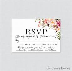 Rsvp Cards Examples Cute Wedding Rsvp Card Example