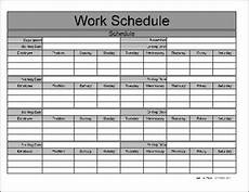 Printable Work Schedules Free Printable Weekly Work Schedule Template These Are
