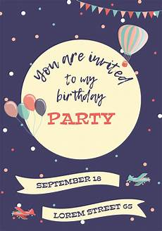Invitation Cards For Party Birthday Invitation Card Download Free Vectors Clipart