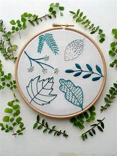 beginner embroidery kit botanical hoop for the home