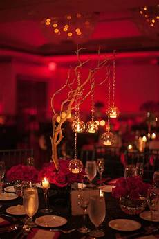 black red wedding centerpieces www armoniapr com