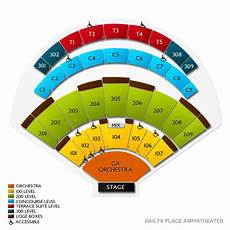 Daily S Place Detailed Seating Chart Kane Brown In Jacksonville Tickets Ticketcity