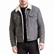 levis type 3 sherpa s jacket pewter cord jean