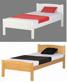 seconique solid wood 3ft single bed frame in white