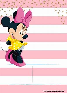 Minnie Mouse Birthday Invitations Free Minnie Mouse Invitation Template Editable And Free