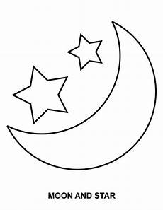 moon and coloring page coloring sky