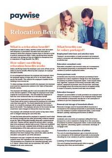 Relocation Benefit Relocation Benefit 20170113