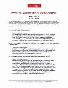 sample responses to interview questions 5 109 interview questions and answers part 1 of 2