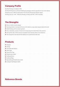 Company Profile Format In Word Free Download Company Profile Sample Templates Create A Professional