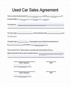 Sale As Is Form For Car Free 32 Sales Agreement Forms In Pdf