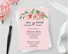 invitaciones de boda invitaciones de boda en espanol para editar imprimir etsy