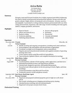 Personalized Resumes 1 Personal Assistant Resume Templates Try Them Now