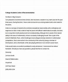 Academic Letter Of Recommendation Sample 10 Academic Recommendation Letters Free Amp Premium Templates