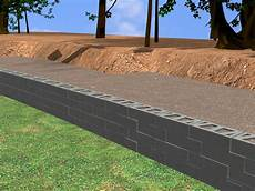 Insulating Concrete Block Walls How To Construct A Block Retaining Wall 14 Steps With