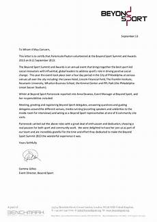Athlete Letter Of Recommendation Beyond Sport Recommendation Letter