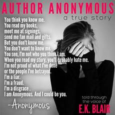 Anonymous Author Review Author Anonymous By E K Blair A Dark Riveting