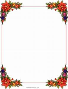 Christmas Printable Borders Stationeryunlined 06 Png 748 215 989 Free Christmas