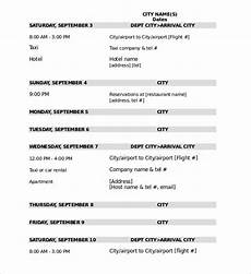 Travel Itinerary Samples 32 Travel Itinerary Templates Doc Pdf Free Amp Premium