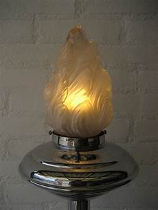 Light Bulb In French Art Deco French Chrome Standing Lamp With Flame Shaped