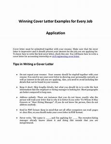 Sample Cover Letter For Job Every Job Application S Sample Cover Letter That Works