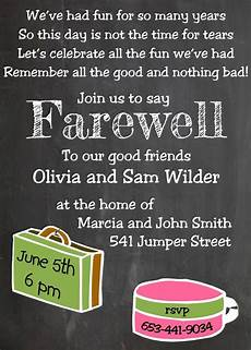 Invitation Card For Farewell Party To Seniors Going Away Party Invitations New Selections Chalkboard