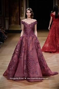 2017 new design evening dress luxury beading gown v