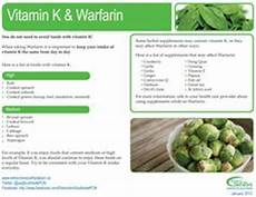 My K Chart For A Diet Low In Vitamin K Foods Coumadin Warfarin Org