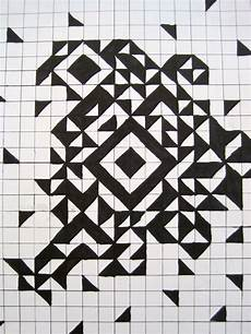 Cool Designs With Graph Paper Pinewood Art Grid Art 8th Grade