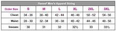 Hanes Chart Hanes Size Chart Amp Specs 3palos