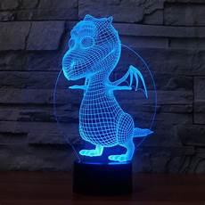 Dragon Lights Slc Discount 3d Cute Baby Dragon Night Light Led Bedroom Dinosaur Table