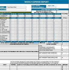 Weekly Expenses Ms Excel Weekly Expense Report Office Templates Online