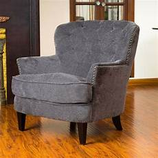 upholstered accent chairs with arms gorgeous vintage design grey upholstered arm chair ebay